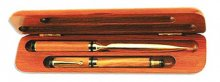 Rosewood Colored Letter Opener and Pen Box