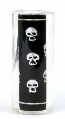 Thread Art Pen Blanks Hand Painted Silver Skulls - Sierra Pen Kits
