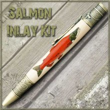 Salmon Laser Inlay Kit - Fly Fishing Twist Pen Kit