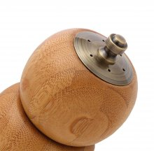 Salt Shaker and Peppermill Combo Kit - Antique Brass. Top Detail.