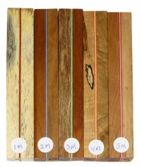 Joe's Segmented Wood Pen Blanks - Sandwich Pattern 01-05M