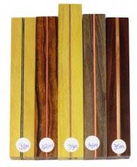 Joe's Segmented Wood Pen Blanks - Sandwich Pattern 31-35M