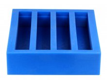 4 Blank Horizontal Silicone Block Mold