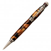 Skull Rollerball Pen Kit - Antique Pewter