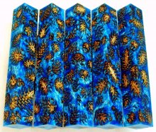 Mini Pine Cone Pen Blanks - Sky Blue