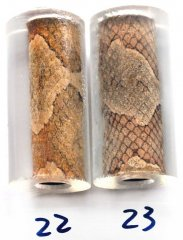 Copperhead Snakeskin Pen Blanks - Lever Action Pen Kits #22-23B