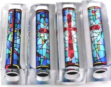 Stained Glass Cross Pen Blank - Bolt Action