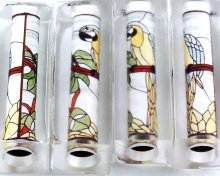 Stained Glass Parrot Pen Blank - Sierra/Virage