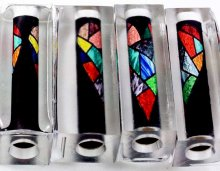 Stained Glass Heart Pen Blank - Sierra/Virage