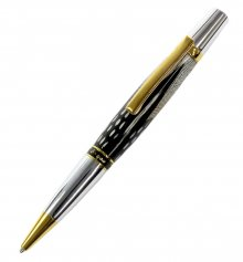 Thank You For Your Service Pen Kit - Titanium Gold & Chrome