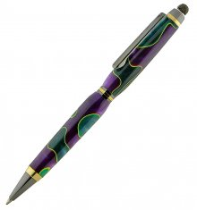 Tetra Stylus - Gunmetal with Gold Accents