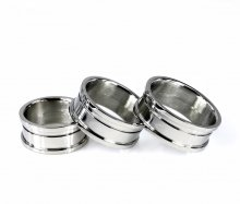 Threaded 2-Piece Ring Core - Stainless Steel - 6mm Channel