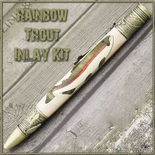Rainbow Trout Laser Inlay Kit - Fly Fishing Twist Pen Kit
