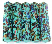 Color Explosion Mosaic Pen Blanks - Turquoise