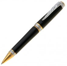 Ultra Cigar Pen Kit - Chrome & Upgrade Gold (Gold Nib)