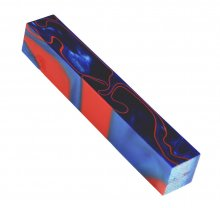 Kirinite Pen Blank - Vivid Blue