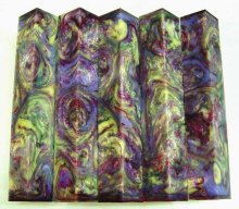 Vaper Swirl Pen Blanks #01 - Northern Lights.