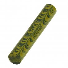 Ebonite Blank - Green & Yellow Ripple Swirl