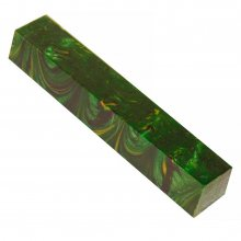 Synthetic Burl Green Acrylic Pen Blank