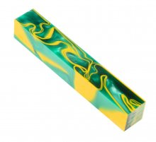 Kirinite Pen Blank - Green Bay Whirl