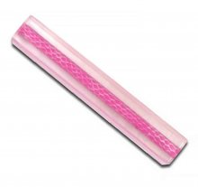 "Embossed Leather Pen Blank - 8mm Tube x 5"" Pink"