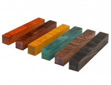 Color Grain Pen Blank Sampler  - Six Pack Special Edition Jumbo Assorted (3/4 in. x 5 in.)