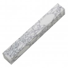 Penn-Stone Pen Blank - White With Black Veins