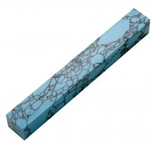 Penn-Stone Pen Blank - Turquoise with Black Veins