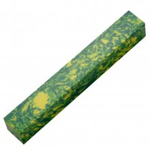 Penn-Stone Pen Blank - Green & Yellow Swirl