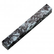 Penn-Stone Pen Blank - Black And Light Blue Swirl