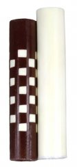 Weave Squeeze 360 Rotacrylic Pen Blank - White Brown & White