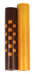 Weave  Squeeze 360 Rotacrylic Pen Blank - Gold & Brown