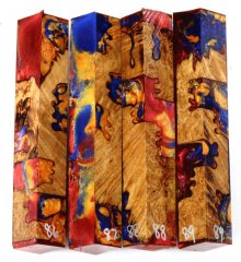 Yellow Box Burl Hybrid Pen Blanks #86-89CC