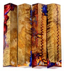 Yellow Box Burl Hybrid Pen Blanks #90-93CC