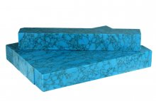 Blue Diamond Turquoise Faux-Stone Blanks