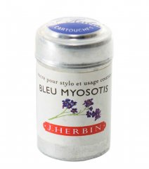 Bleu Myosotis J. Herbin Cartridges - Tin of 6