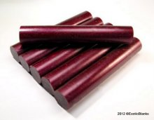 Stardust Pen Blanks - Boysenberry Burgundy