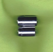 Caballero Threaded Finial Coupler - Chrome