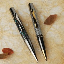Aero Twist Ballpoint Pen Kit - Chrome & Black Ti