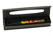 Window Cardboard Pen Box - Black. Open with Pen