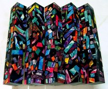Color Explosion Mosaic Pen Blanks - Black II
