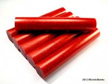 Stardust Pen Blanks - Cherry Pie - Choose Length