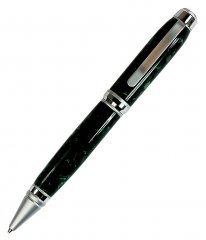 Cigar Pen Kit - Chrome & Satin Chrome (Satin Nib)