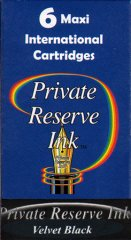 Private Reserve Maxi Ink Cartridges - Velvet Black