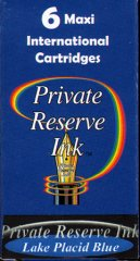 Private Reserve Maxi Ink Cartridges - Lake Placid Blue