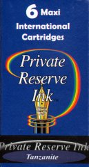 Private Reserve Maxi Ink Cartridges - Tanzanite