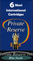 Private Reserve Maxi Ink Cartridges - Blue Suede