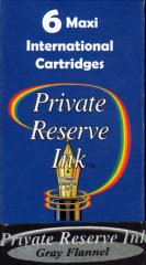 Private Reserve Maxi Ink Cartridges - Gray Flannel