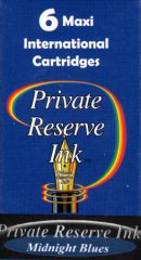 Private Reserve Maxi Ink Cartridges - Midnight Blues
