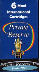 Private Reserve Maxi Ink Cartridges - Sonic Blue